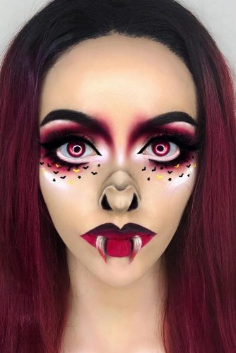 42 Glam and Sexy Vampire Makeup Ideas 20