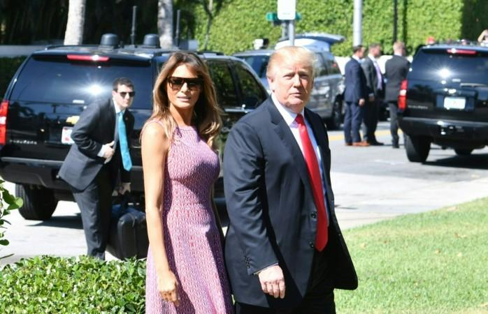 Melania Trump's gorgeous Easter outfit and stunning stilettos .