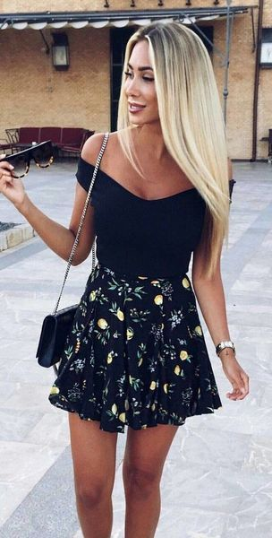 Gorgeous summer holidays party outfit ideas | Skirt outfits summer .