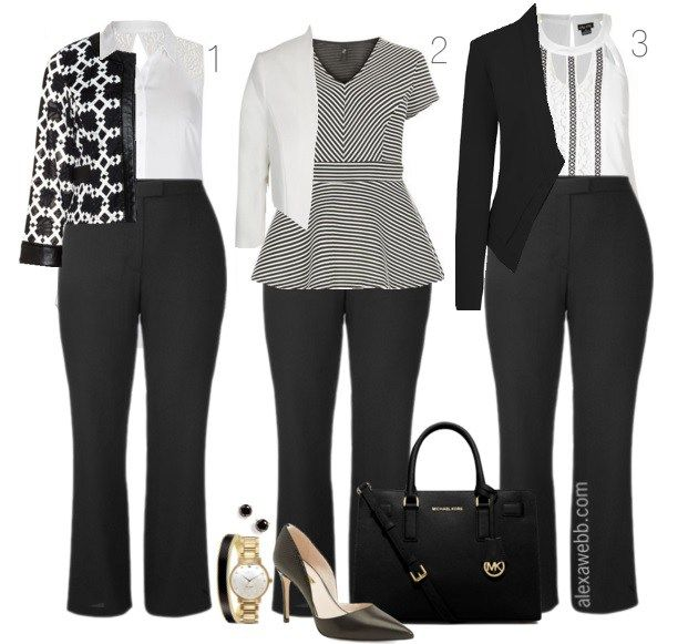 Workwear Inspiration - Monochromatic Looks for Work - Alexa Webb .