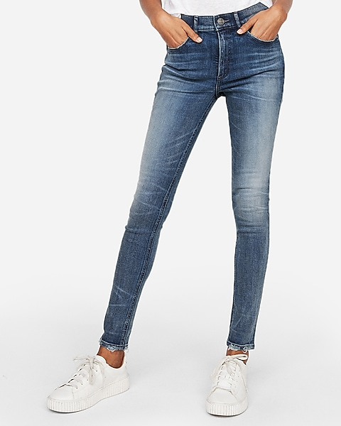 High Waisted Denim Perfect Skinny Jeans | Expre