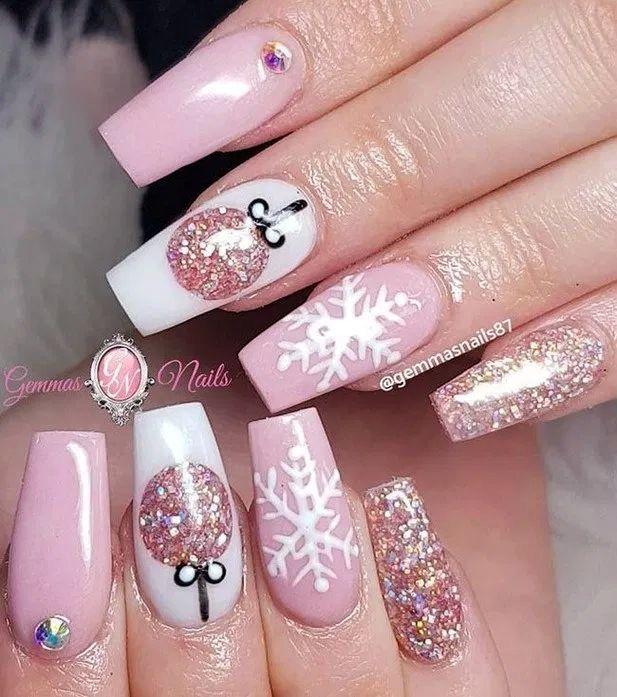 40 Amazing Christmas Nail Art Design Ideas | Ecemella | Cute .