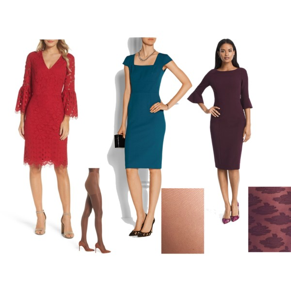 How to Wear Tights with Holiday Dresses | Elements of Ima