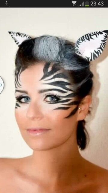 Augen make up zebra | Animal makeup, Zebra makeup, Animal face .