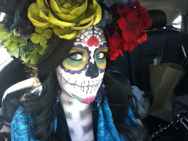 Halloween day of the dead makeup | Dead makeup, Holiday party .