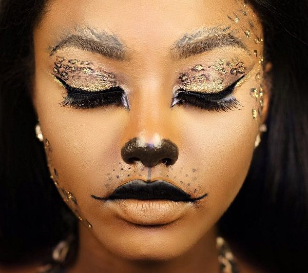 Halloween makeup ideas for African American girls .