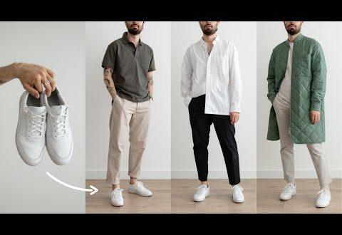 12 Ways to Style White Sneakers | Men's Fashion | Outfit Ideas .