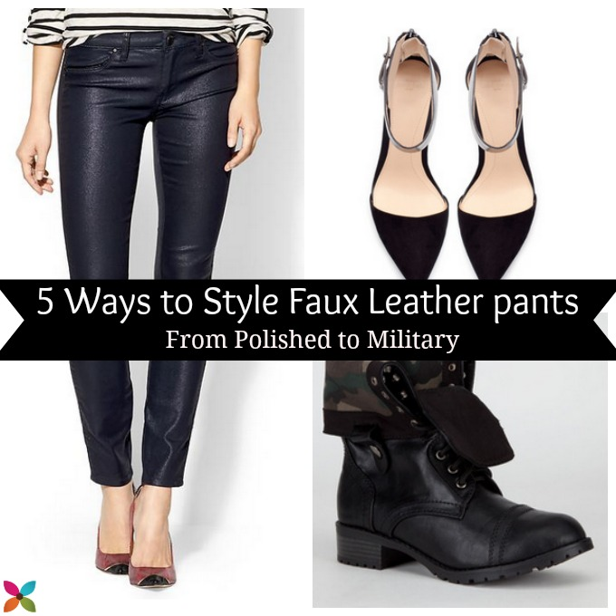 What to Wear with Faux Leather Pants - Savvy Sassy Mo