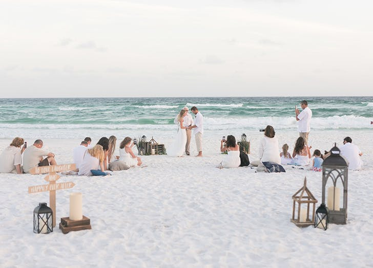 An Inspiring $500 Beach Wedding - PureW