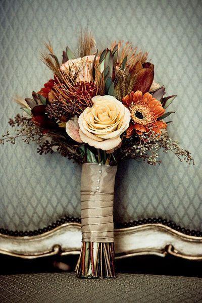 30 Fall Wedding Bouquets - Rustic Wedding Chic | Bridal bouquet .