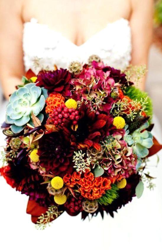 30 Amazing Fall Wedding Bouquet Ideas in 2020 | Fall wedding .