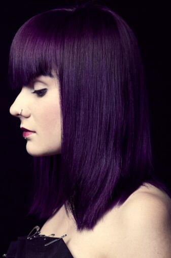 Intense violet | Permanent purple hair dye, Violet hair colors .