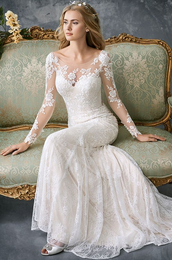 Kenneth Winston 1765 | gorgeous lace fitted gown | illusion and .