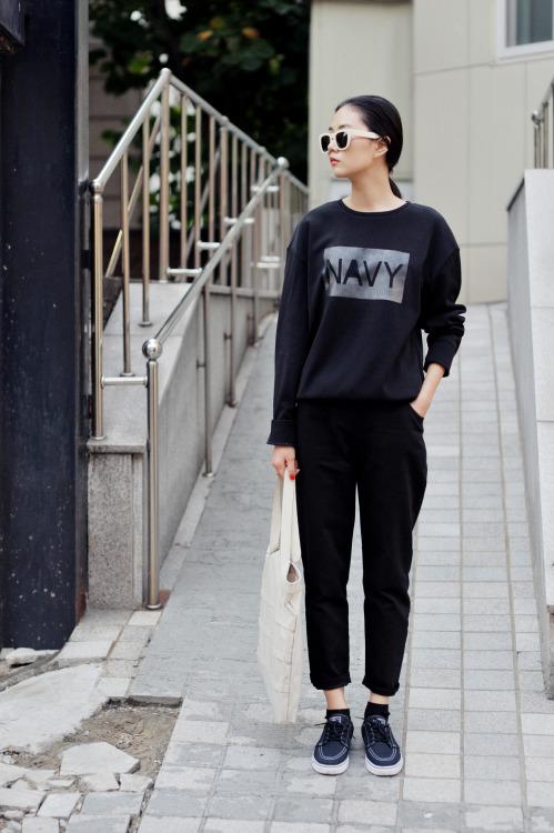 beauty beautiful street style street Korea fall fashion blog woman .