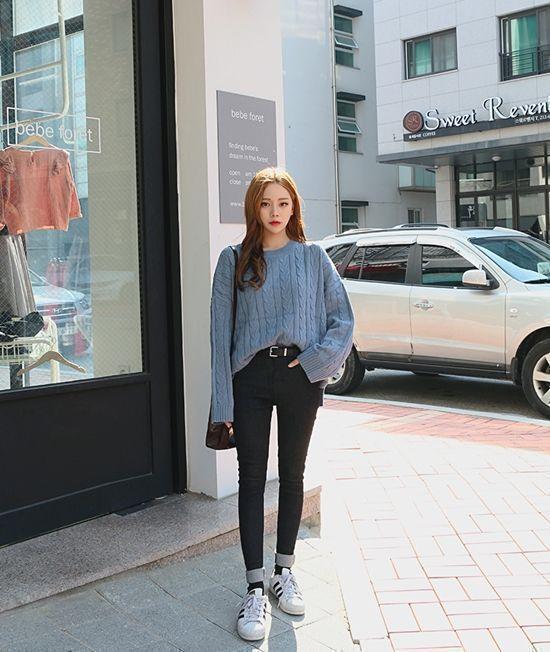 Korean Daily Fashion- Outdoor Look in Autumn Popular Autumn .