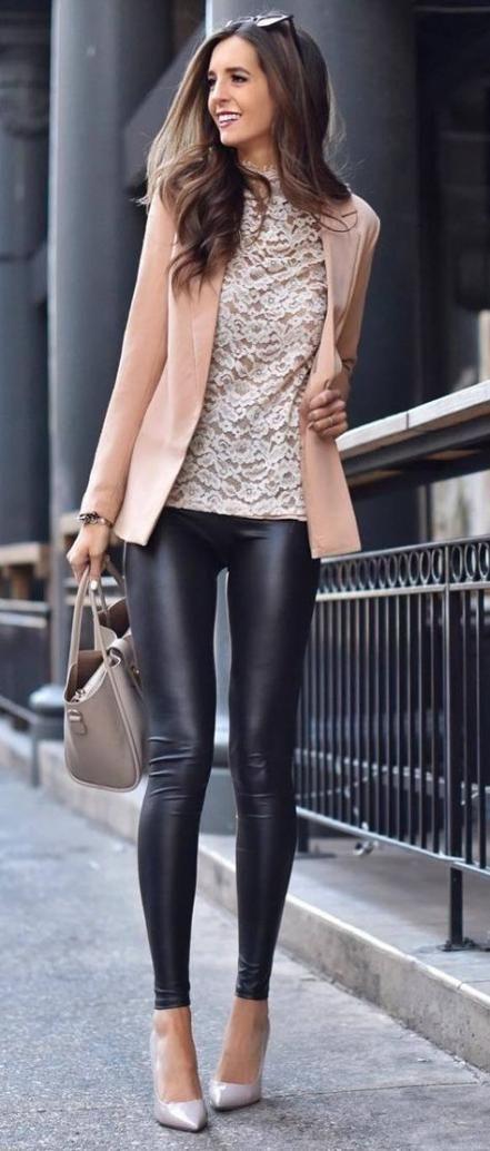 How To Wear Black Blazer Leather Leggings 63 Ideas For 2019 .