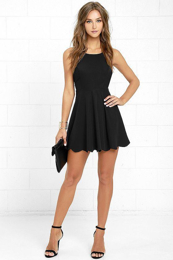 Play On Curves Black Backless Dress   Black backless dress, Black .