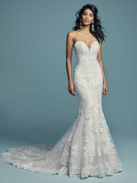 Beading And Embroidered Fit And Flare Wedding Dress | Kleinfeld Brid