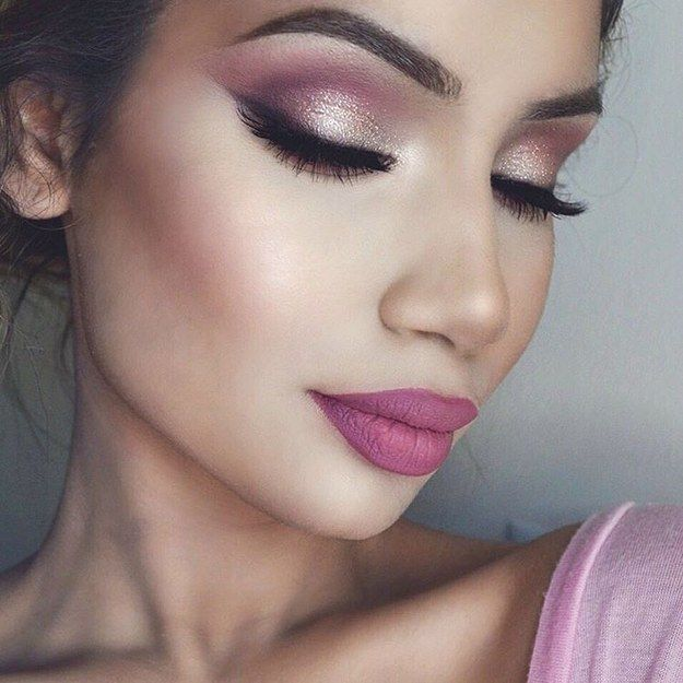 19 Ways Pink Eyeshadow Can Look Badass AF | Pink eye makeup, Pink .