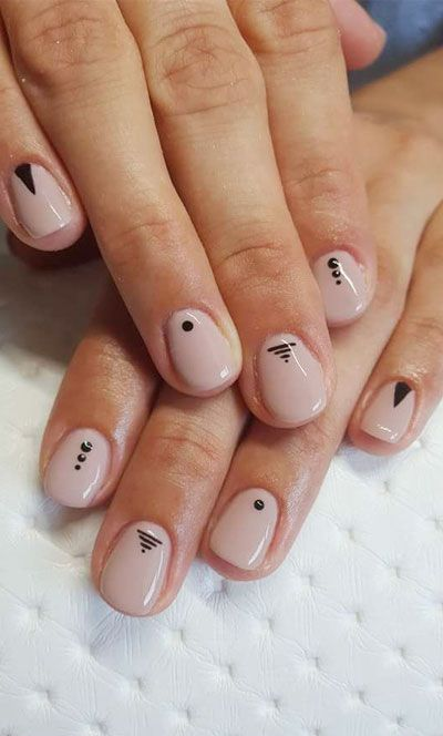 22 Simple Dots Nail Design for Minimalist in 2020   Minimal nails .