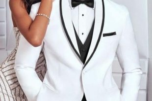 10 Modern Groom's Style Ideas To Meet The Trends 09-White Tuxedo .