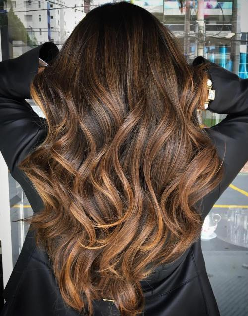 70 Balayage Hair Color Ideas with Blonde, Brown and Caramel Highligh