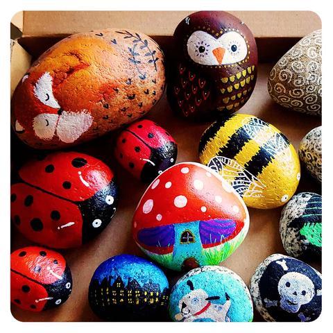 Heard of the happy new rock painting craze?! – Sherbet La