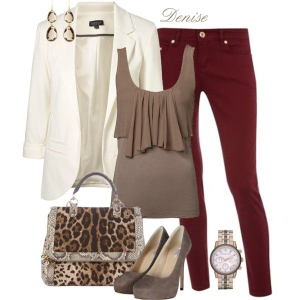 Perfect Fall Look: 23 Outfit Ideas in Burgundy Col
