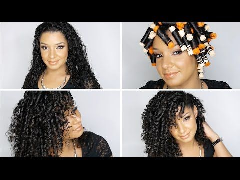 How To: Perfect Perm Rod Set On Natural Curly Hair Tutorial .