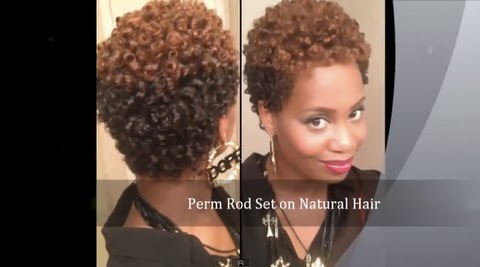 How I Get a Perfect Perm Rod Set on Short Natural Hair - With NO .