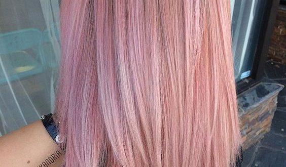 50+ Neue Frisur: Pink Lob Inspiration | Tumblr hair, Pastel pink .