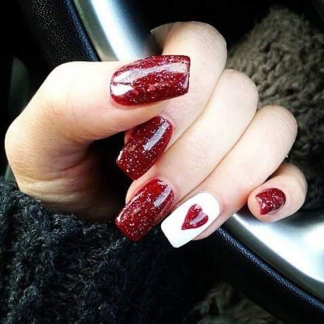 Gorgeous Valentines Nails! | Valentines nail art designs, Nail .