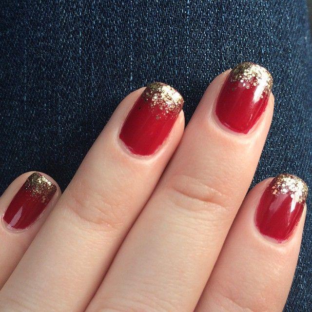 Holiday Nail Art | Julep | Red and gold nails, Gold nails, Gold .