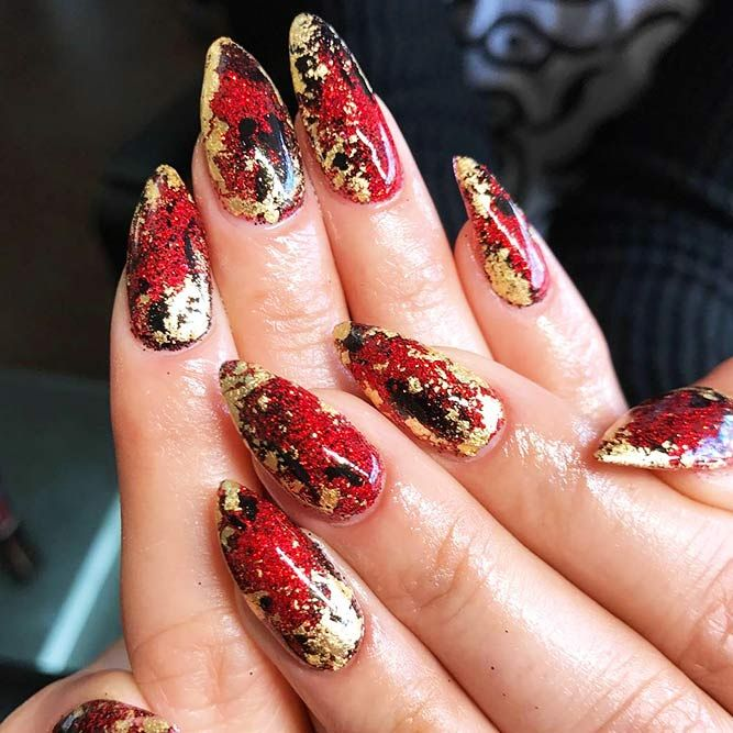 33 Stunning Gold Foil Nail Designs To Make Your Manicure Shine .