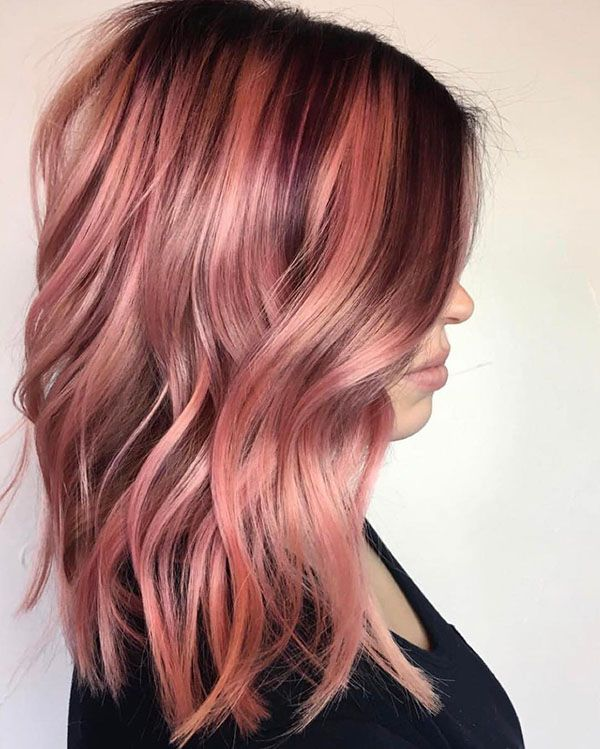 10 Pink Hair Ideas for Women | Dark Roots Balayage Pink Hair .