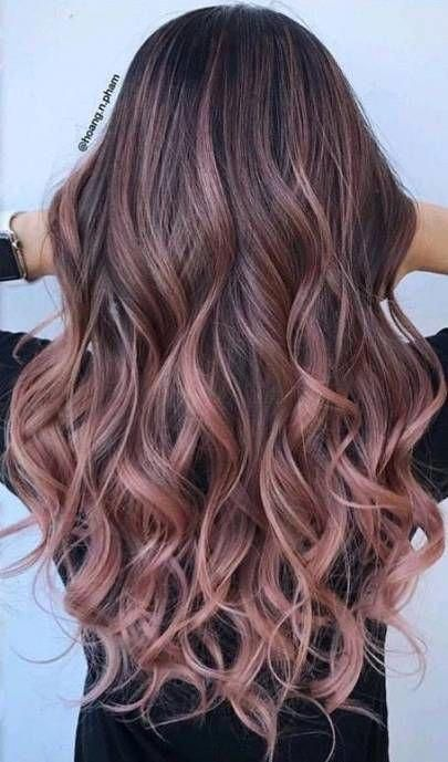 43+ ideas for hair color ideas for brunettes balayage rose gold .