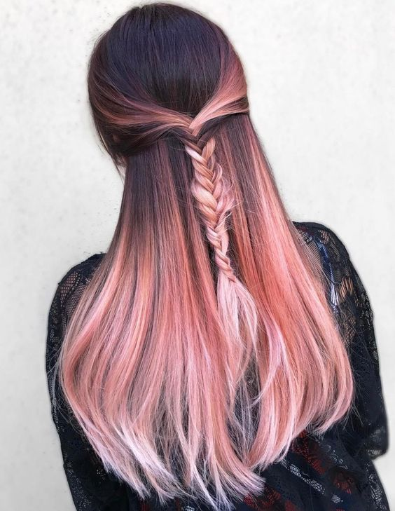 Rose Gold Bayalage Hair Ideas – fashiontur.com in 2020 | Hair .