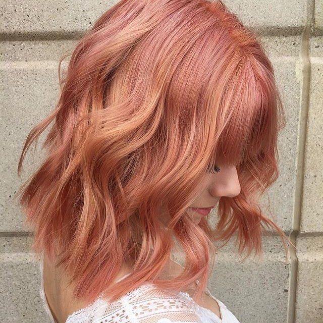 Aveda | Blorange hair, Hair styles, Peach ha