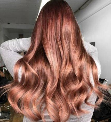 Hair #color #rose #gold #korean #51+ #super, #Color #Gold #Hair .