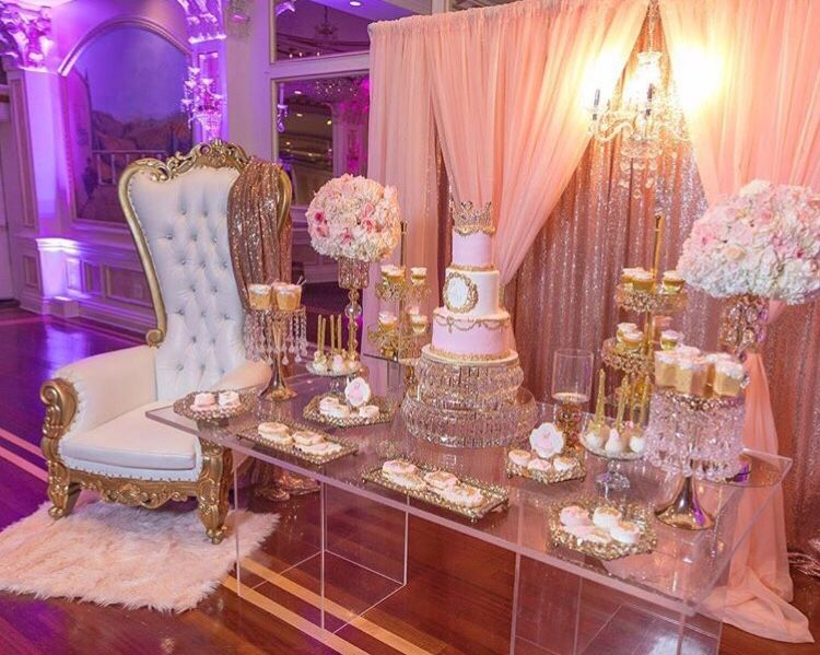 Pink & Gold Baby Shower Princess | Pink gold baby shower .