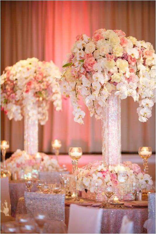 Rose Gold Quinceanera Wedding Decorations (67) – Bridalo
