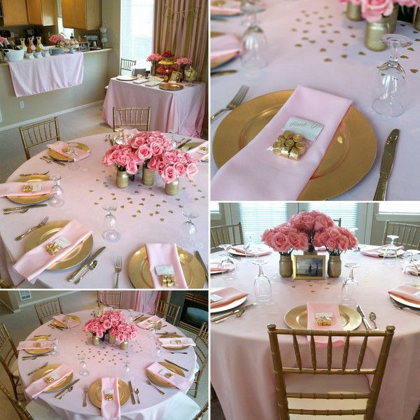 Rose Gold Table Setting Ideas in 2020 | Wedding shower brunch .