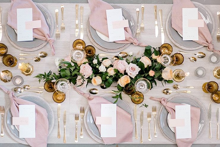 Supplier We Love: Storybook & Co. | Rose gold table setting .