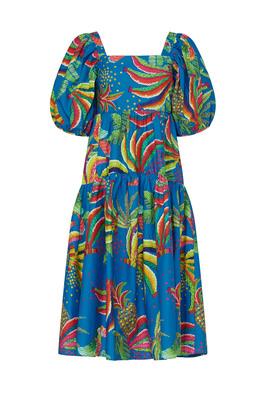 Blue Banana Midi Dress by FARM Rio for $40 - $50 | Rent the Runw