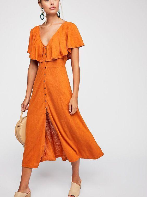 Sample Trending Midi Dress | Vestidos casuais curtos, Looks vestid