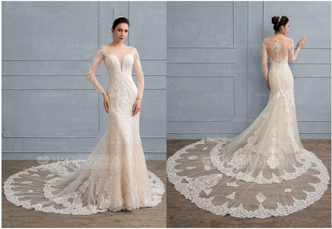 MERMAID and TRUMPET WEDDING DRESSES 2020: Ariel Inspired Dresses .