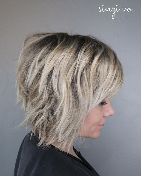 10 Short Shag Hairstyles for Women 2020 | Thick hair styles, Short .
