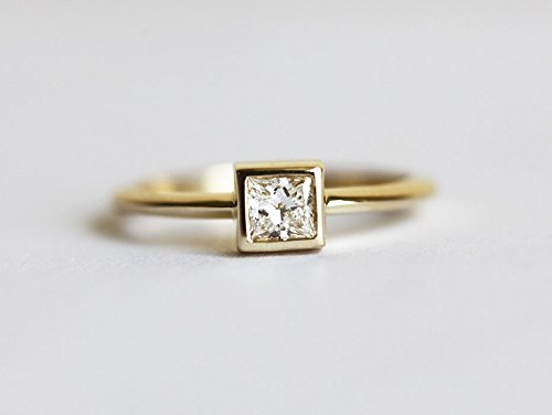 Amazon.com: Simple Engagement Ring, Solitaire Engagement Ring .