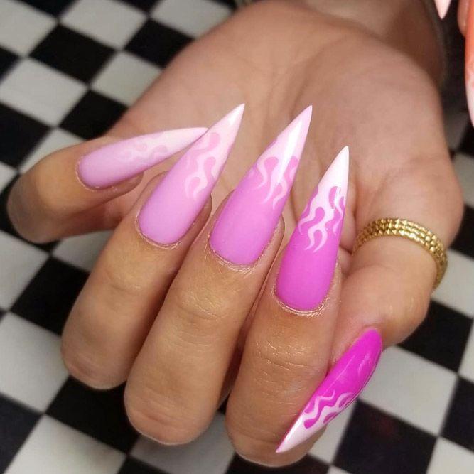 Inspiring Stiletto Nails To Win Over You | NailDesignsJournal.com .