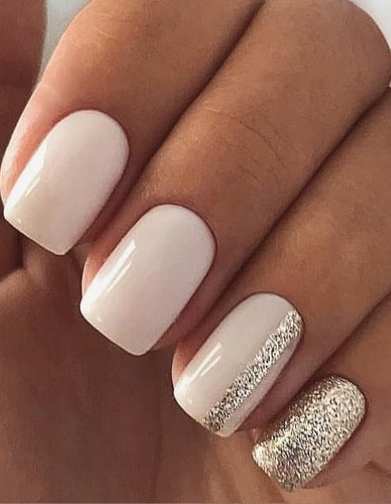 70 Simple Nail Design Ideas That Are Actually Easy | Square nail .